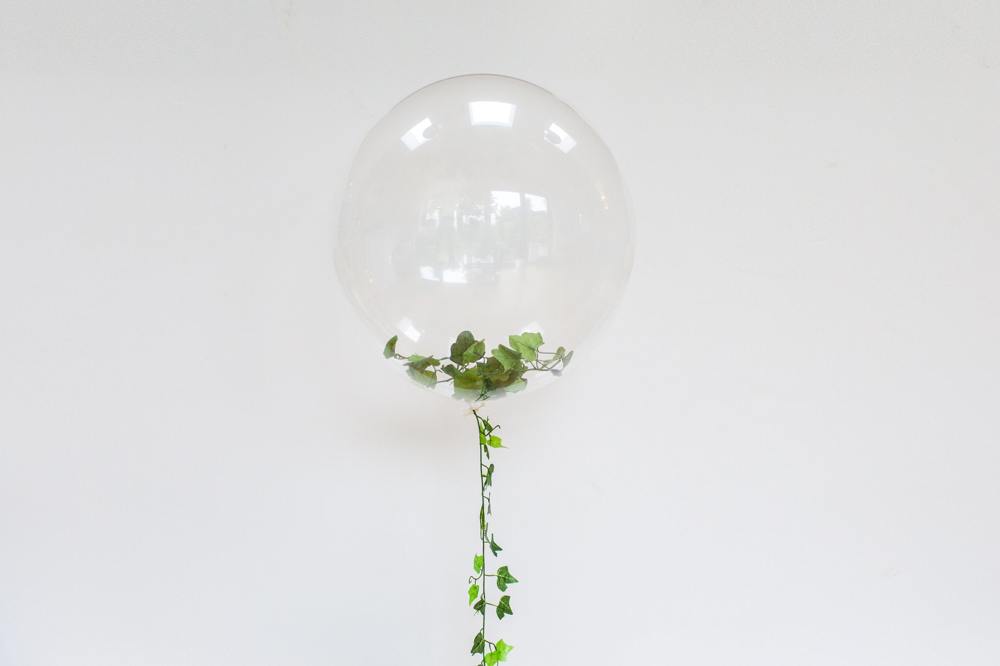 Bubble Balloons Filled with Foliage