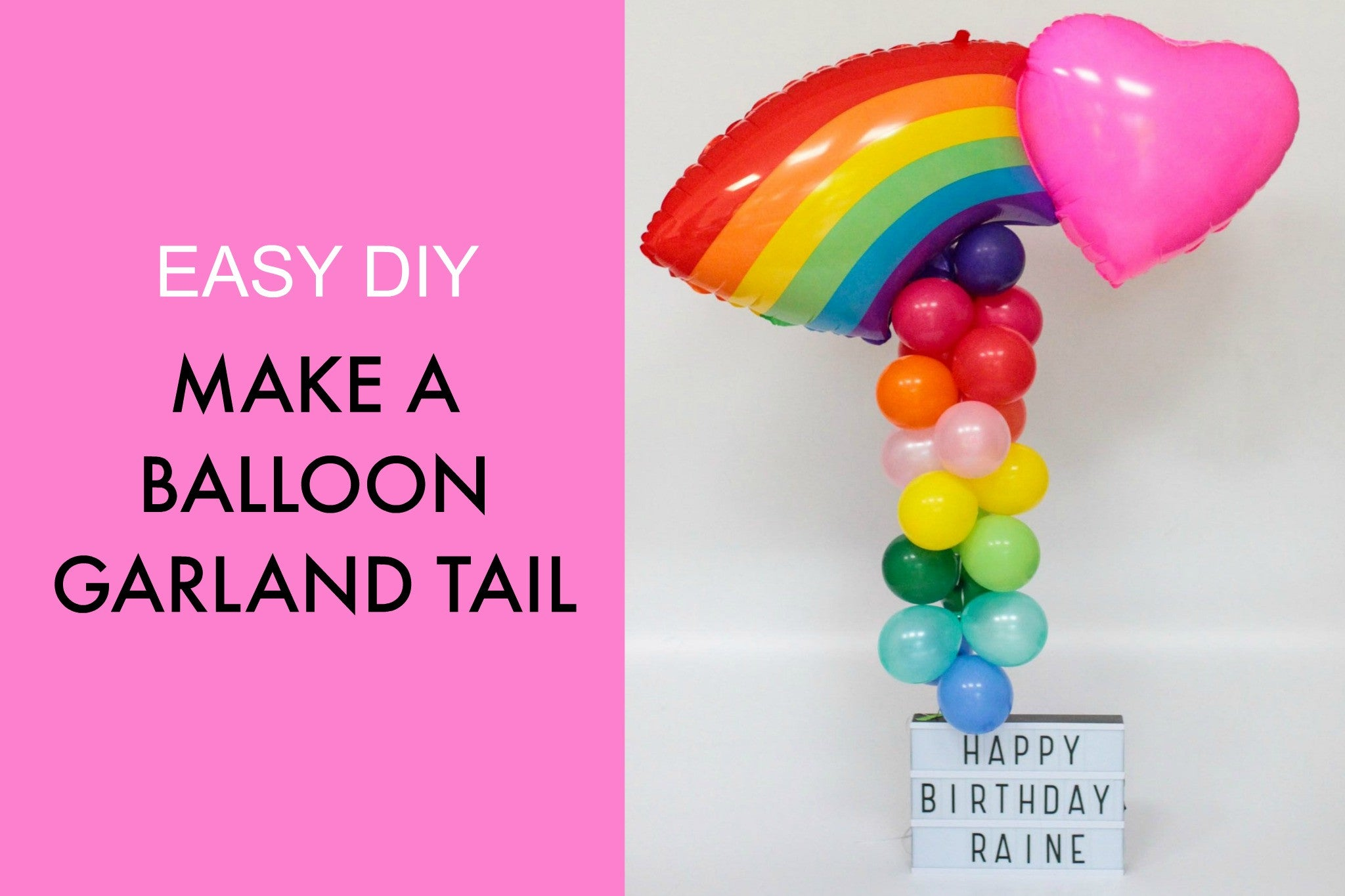 Balloon garland Tail Tutorial