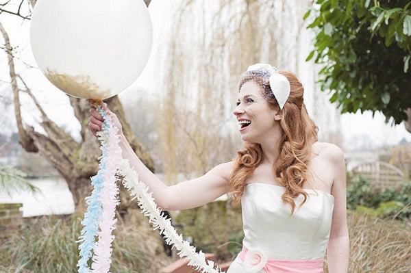 Tassel Tail Wedding Balloon