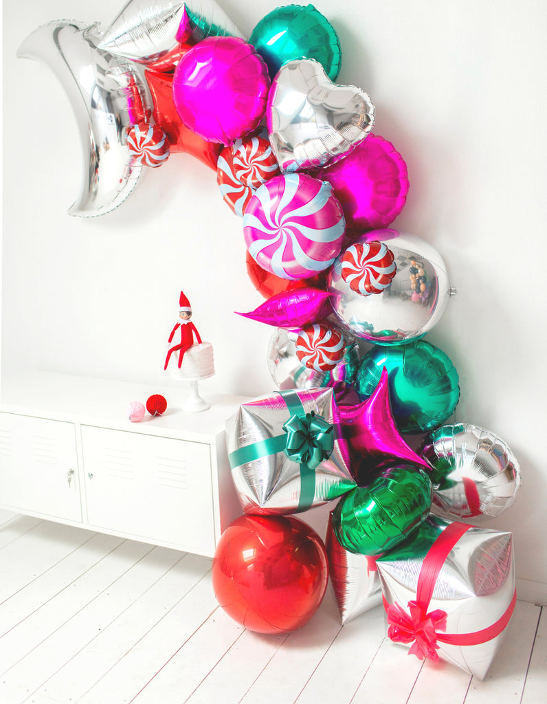 Christmas Balloon Wall Display