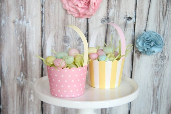 Easter Baking cup baskets