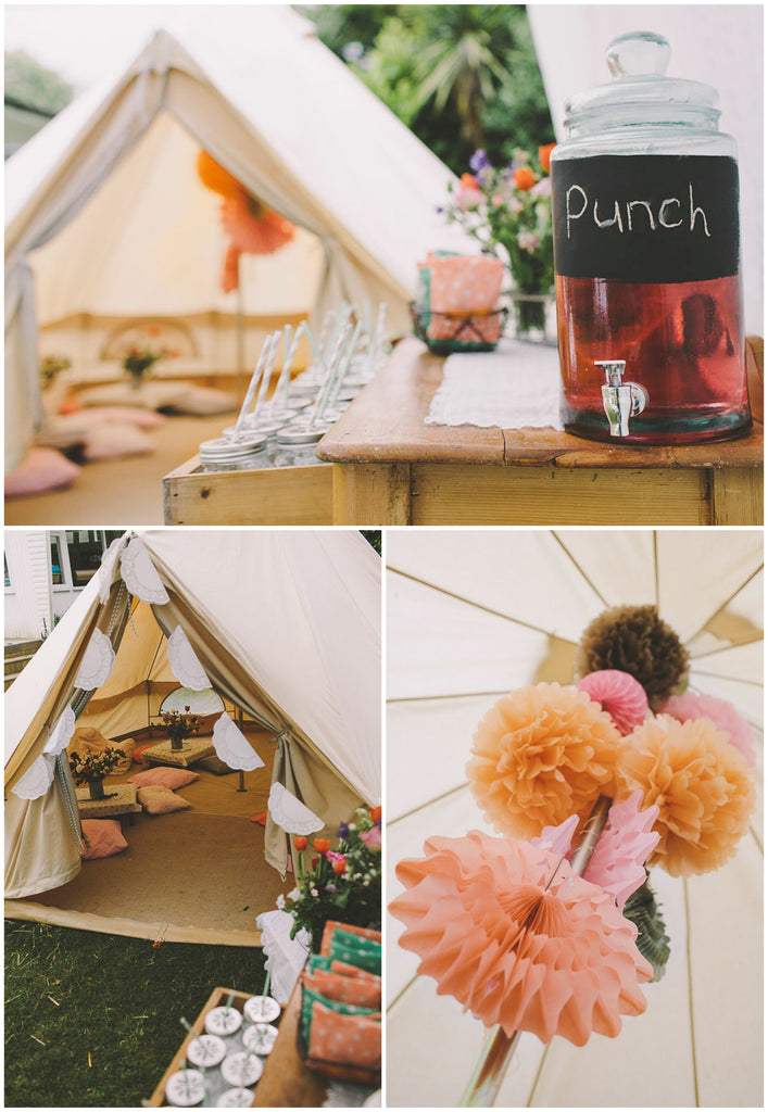 The ultimate girls camping party featured by pretty for Glamping ideas diy