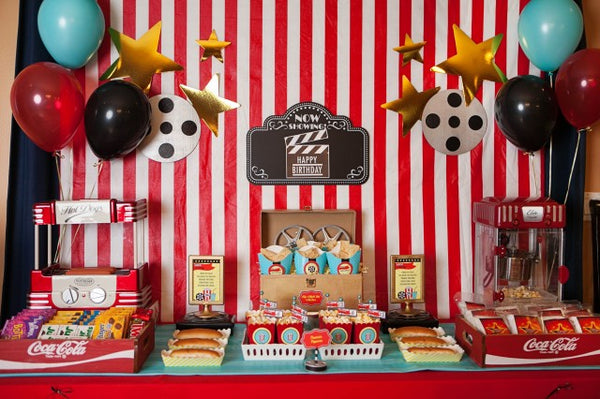 Movie Party Ideas For Kids Pretty Little Party Shop