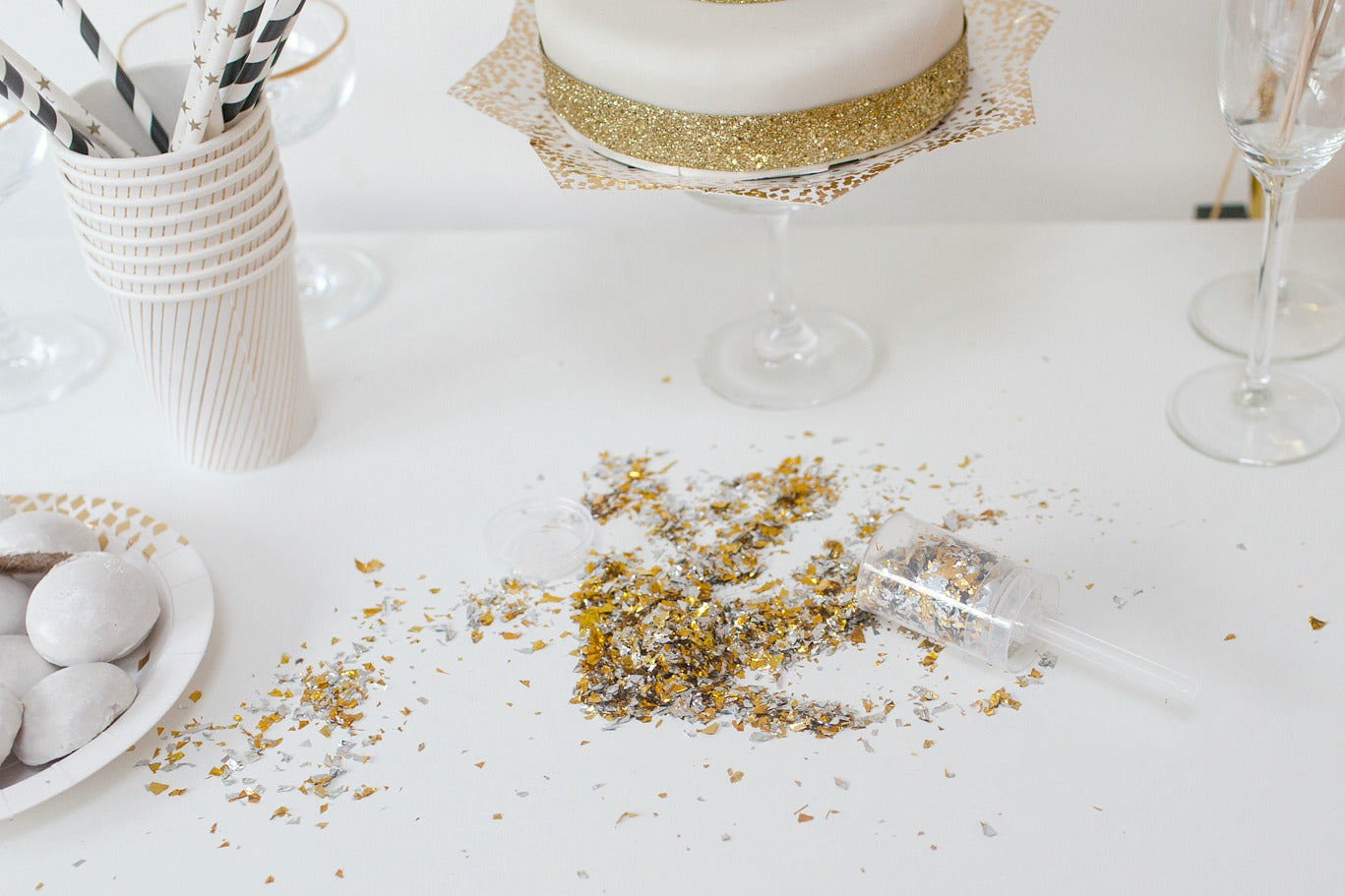 Glitter and Gold New Years Eve party