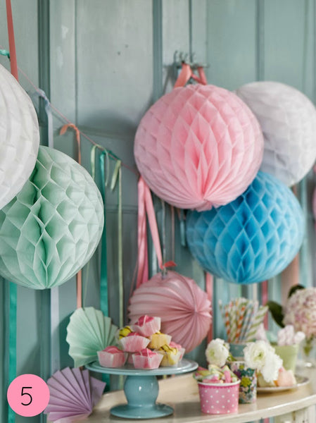 Pastel Honeycomb Ball Decorations