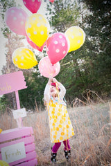 polka dot balloons with helium