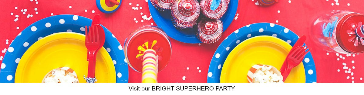 Bright Superhero Theme Party Ideas