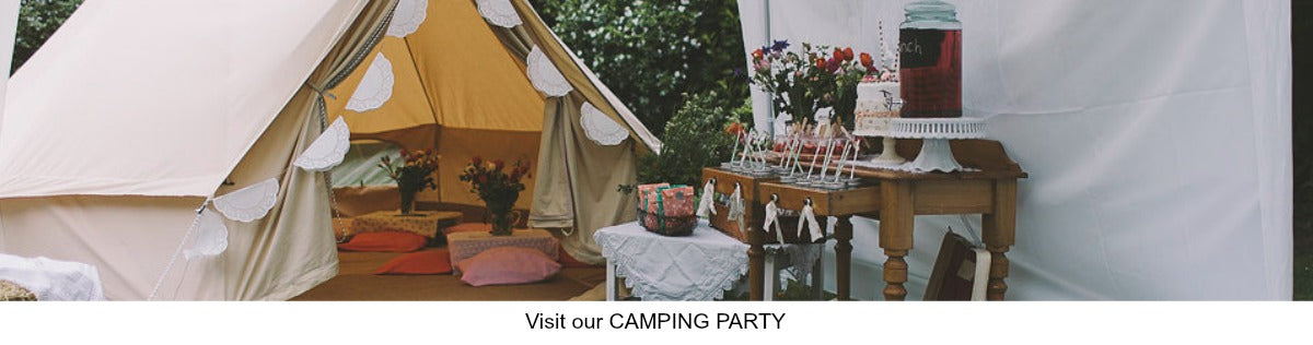 Camping Glamping Party Ideas
