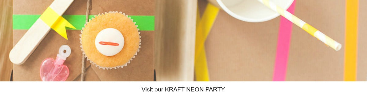 Kraft and Neon Party Ideas
