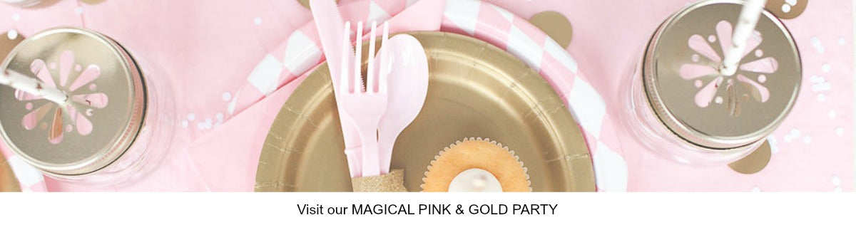 Pretty Pink and Gold Party Ideas