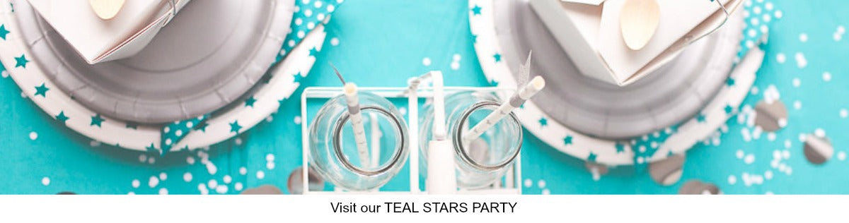 Teal Blue Stars Party IDeas