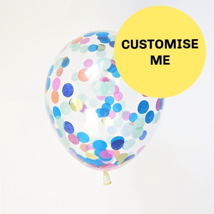 Custom Made Confetti Party Balloons | Bespoke Balloons UK
