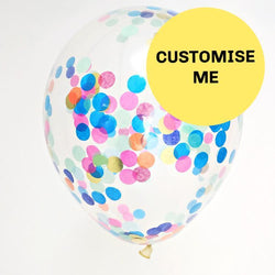 "16"" Custom Made Confetti Balloons (3 Pack)"