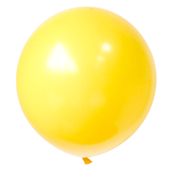 17 Inch Big Round Balloon Yellow