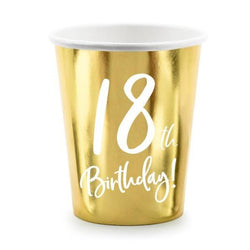18th Birthday Party Cups (6 Pack)