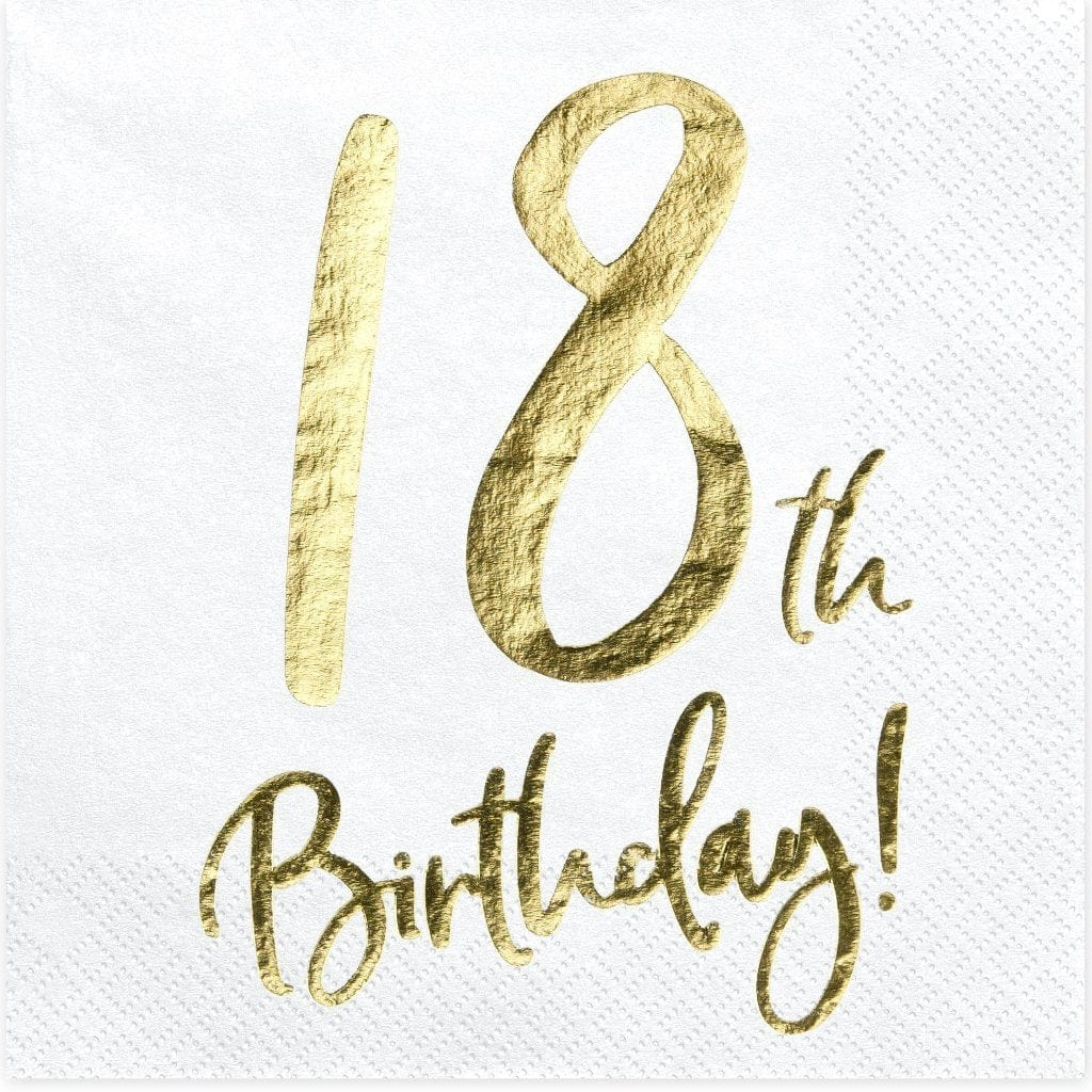18th Birthday Party Napkins | Shop 18th Birthday Party Supplies