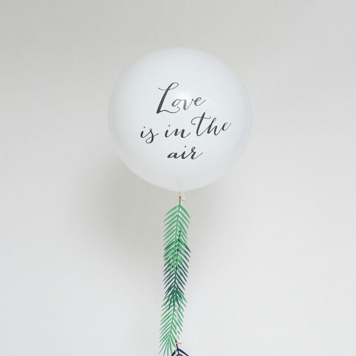 1m Round Wedding Balloon - Love Is In The Air