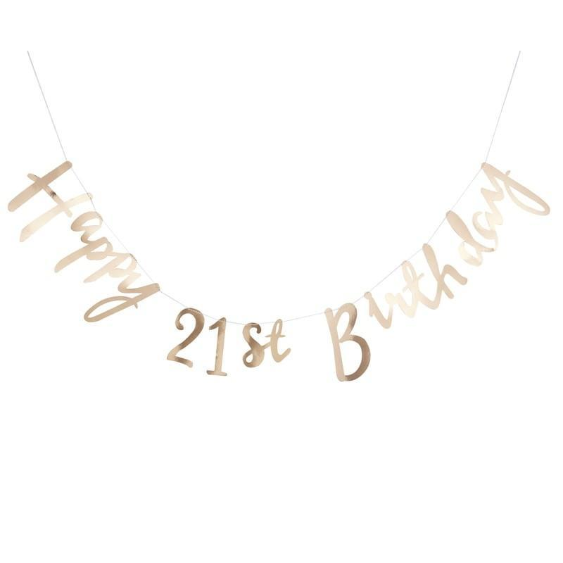 21st Birthday Party Decorations | Gold party supplies