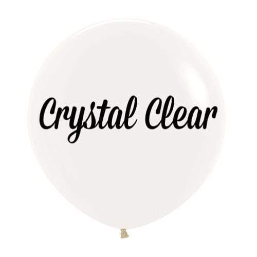 "Crystal Clear 24"" 60cm Latex Balloon 