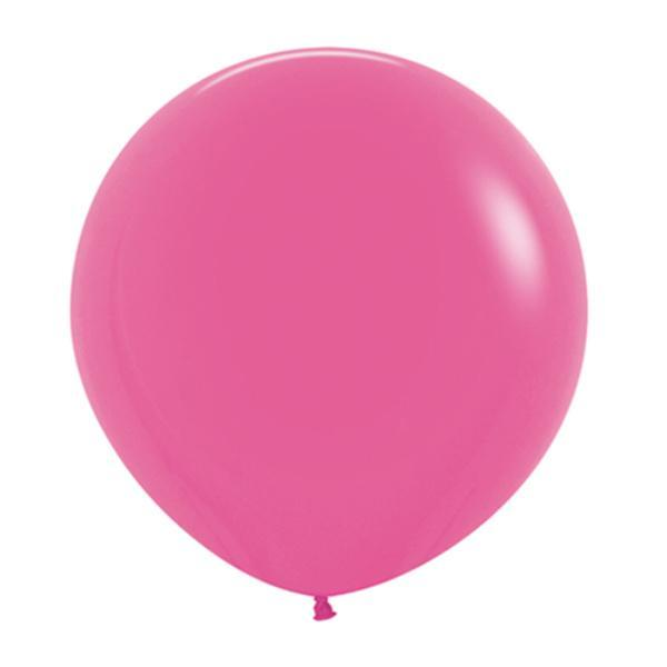 60cm Fuschia Pink Latex Balloons | 24 Inch Round Balloons