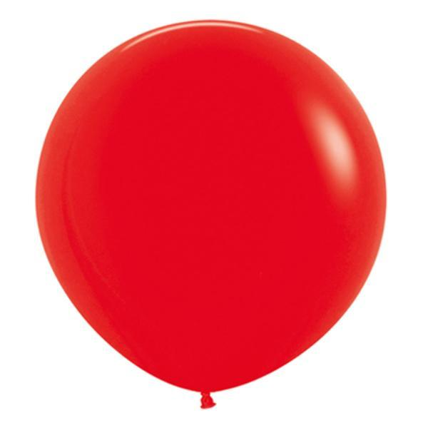 "24"" Red Round Balloons 
