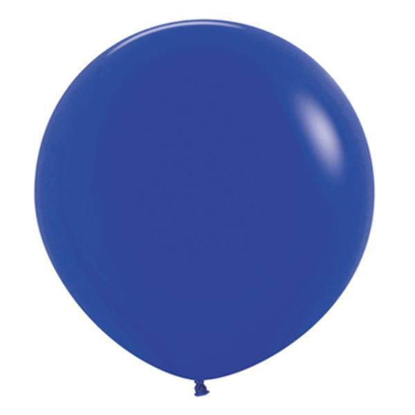 "2ft Round Blue Balloons | Sempertext 24"" Balloons"