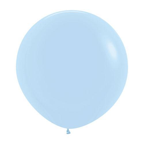 Big Round Pale Blue Latex Balloons | Party Deco