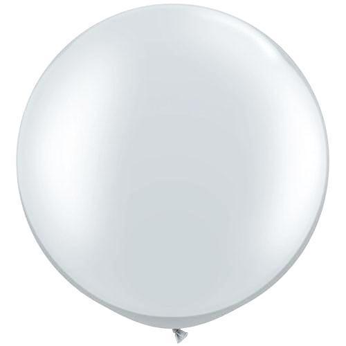"Silver 3ft Round Balloon | 36"" Giant Round Balloon"