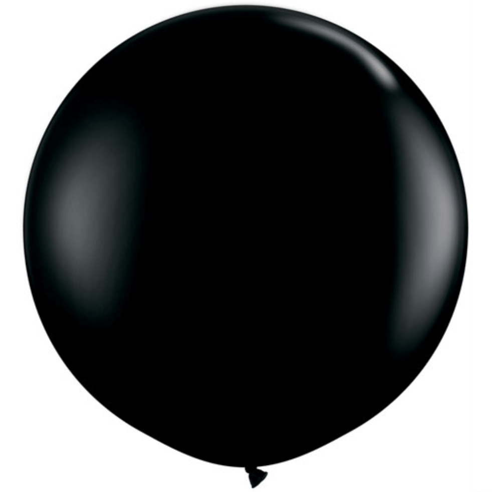 Big Round Black Balloon | Giant Latex Helium Balloons | Black balloons | UK Party Supplies