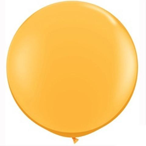 "Big Round Balloon Golden Yellow Big Blush Balloon 36"" for Parties, Weddings and Events. Qualatex"