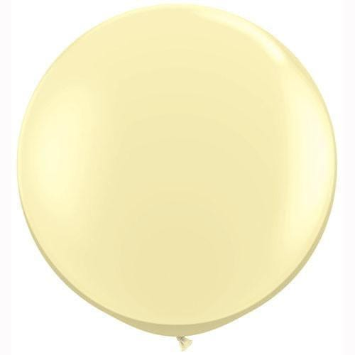 "Big Ivory Balloon 36"" for Parties, Weddings and Events. Qualatex"