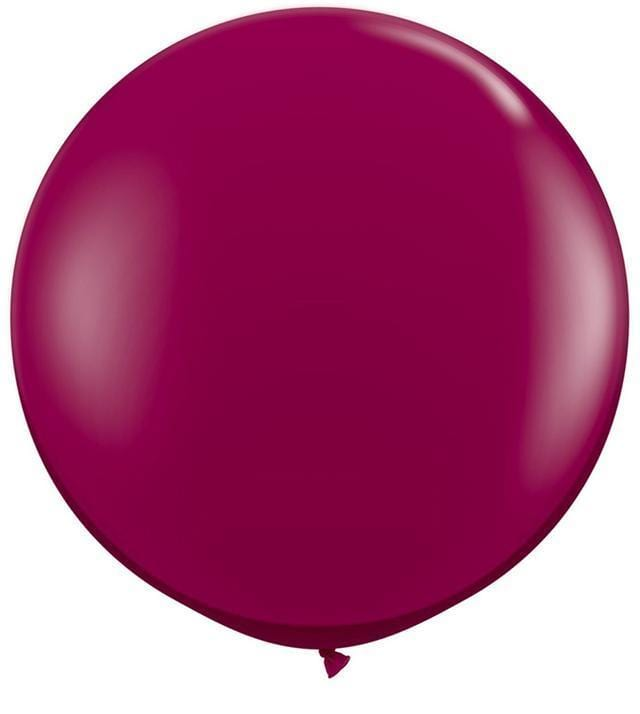 "Big Burgandy Balloon 36"" for Parties, Weddings and Events. Qualatex"