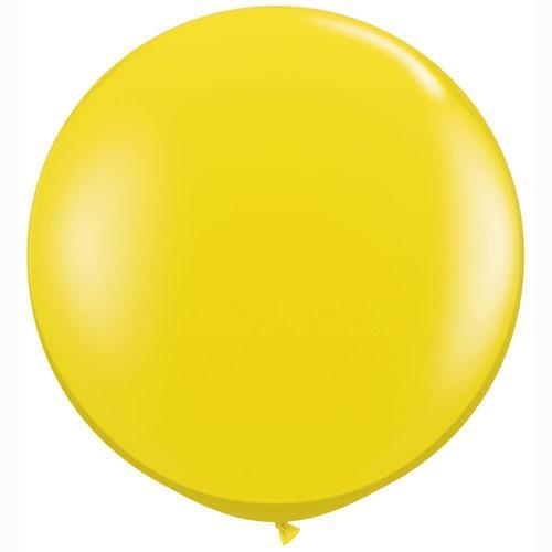 Big Yellow Jewell Balloon for Parties, Weddings and Events. Qualatex