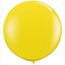 "36"" Big Round Balloon Jewel Citrine Yellow"