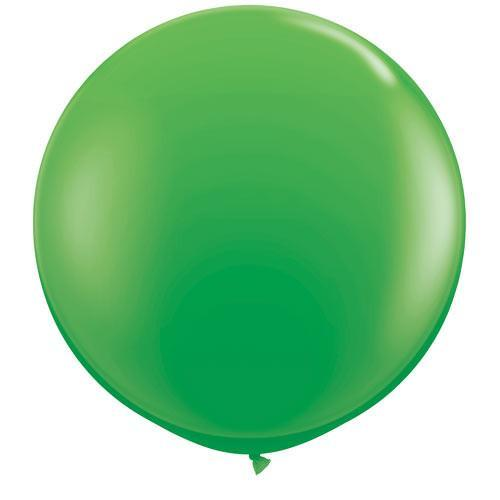 Spring Green Big Round Balloon  for Parties, Weddings and Events. Qualatex