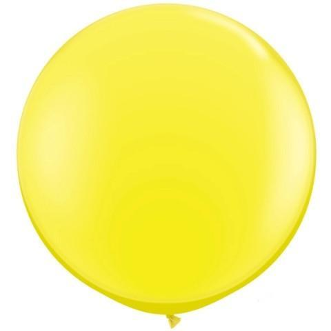 Big 3ft Yellow Balloon for Parties, Weddings and Events. Qualatex
