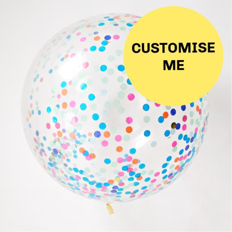 Custom Made Confetti Filled Balloons | Bespoke Confetti Balloons UK