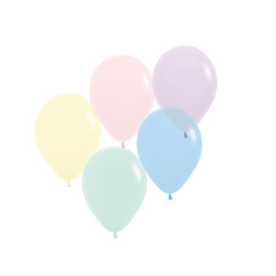 "5"" Chalk Pastel Balloons Mix (10 pack)"