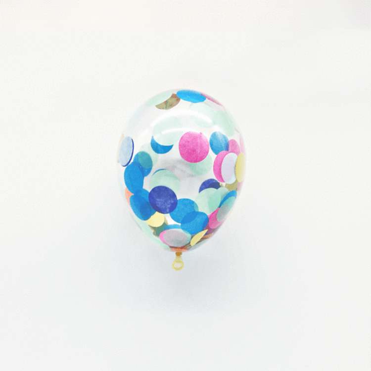 Min Confetti Filled Custom Made balloons | 5 inch custom made confetti Balloons UK