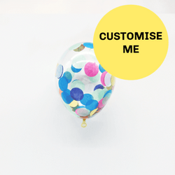 "5"" Mini Custom Made Confetti Balloons (3 Pack)"