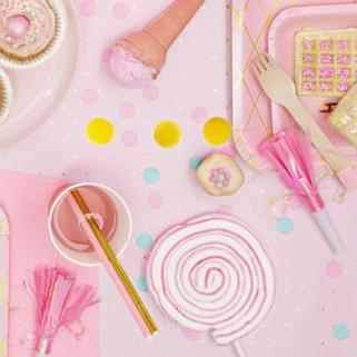 Party Blowers | Pink Fringe Party Horns UK