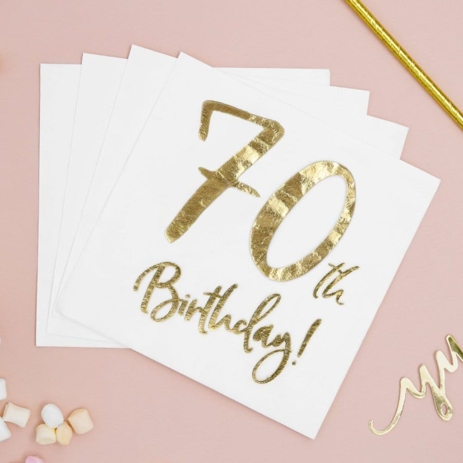 70th Birthday Party Napkins | Seventieth Party Supplies UK