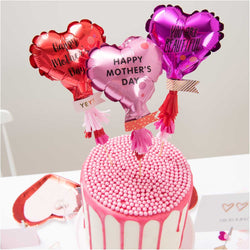 Cake Topper Balloon Kit for Mothers Day and Valentines Day UK