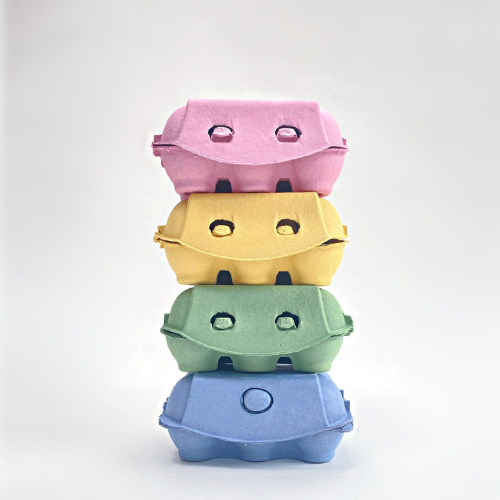 Pastel Egg Boxes Pink Yellow Blue Green Pastel Egg Cartons