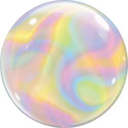 Iridescent Swirl Bubble Balloon 22""