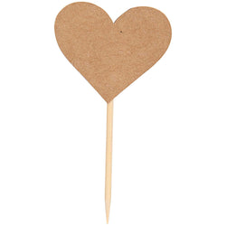 Kraft Heart Food Picks | Eco Cake Toppers