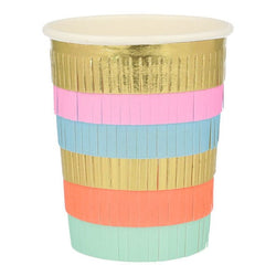 Pastel Fringe Modern Party Cups by Meri Meri