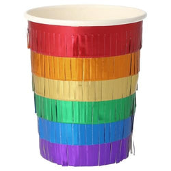 Rainbow Fringed Party Cups Meri Meri UK