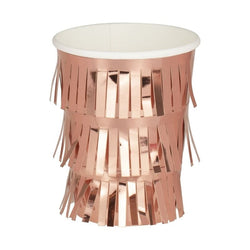 Rose Gold Fringed Party Cups | Adult Parties & Weddings | Modern Parties