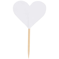 White Heart Cake Toppers for Weddings